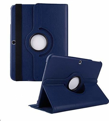 TGK Book Cover for Samsung Galaxy Tab 4 10.1 Inch Sm-T530, T531, T535, T537 360 Degree Rotating Leather Smart Case(Blue, Cases with Holder)