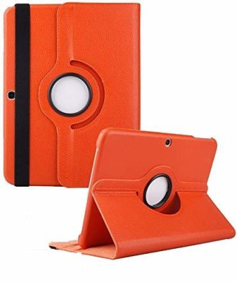 TGK Book Cover for Samsung Galaxy Tab 4 10.1 Inch Sm-T530, T531, T535, T537 360 Degree Rotating Leather Smart Case(Orange, Cases with Holder)