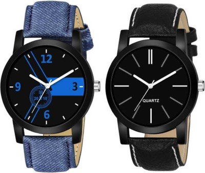 Romofy Sett Of Two New Fashion Designer Sporty Mens high quality watch Analog Watch  - For Boys