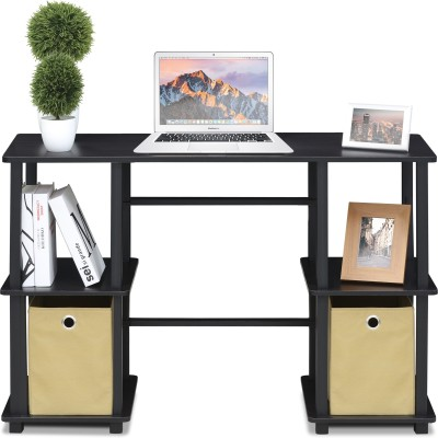 Furinno Engineered Wood Computer Desk(Modular, Finish Color - Black)
