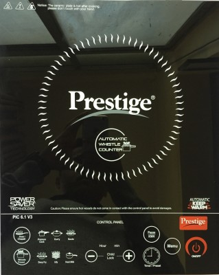 Prestige PIC 6.1 V3 Induction Cooktop(Black, Touch Panel)
