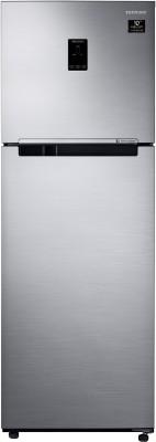 Samsung 345 L Frost Free Double Door 3 Star (2020) Refrigerator(Elegant Inox, RT37T4533S8/HL)