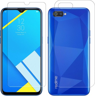 AS Front and Back Screen Guard for Realme C2, OPPO A1K(Pack of 2)