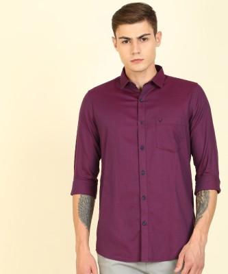 Allen Solly Men Solid Formal Purple, Blue Shirt