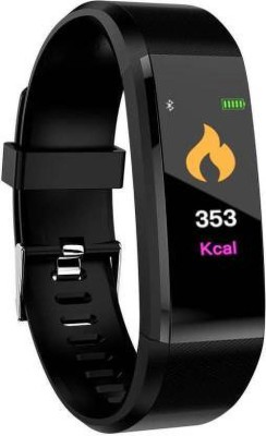 Vacotta ID-115 Smart fitness band(Black Strap, Size : Free)