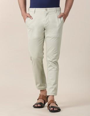 True Blue Slim Fit Men Beige Trousers