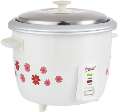 Prestige PRWO 1.8-2 Electric Rice Cooker (White) Electric Rice Cooker with Steaming Feature(1.8 L, White, Red)