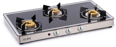 GLEN 1038 GT AI Forged Burners Mirror Glass Automatic Gas Stove(4 Burners)