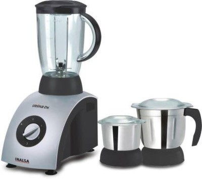 Inalsa DX 750 750 Mixer Grinder(Black, White, 3 Jars)