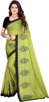 Sanskriti Designer Self Design Bollywood Silk Blend Saree(Dark Green)