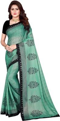Sanskriti Designer Self Design Bollywood Silk Blend Saree(Green)