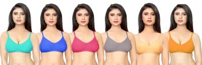 DeVry Women Plunge Non Padded Bra(Multicolor)