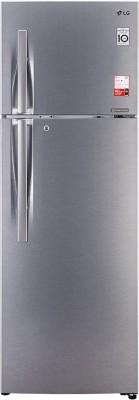 LG 335 L Frost Free Double Door 2 Star  2020  Convertible Refrigerator Dazzle Steel, GL T372JDSY