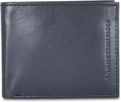 TOMMY HILFIGER Men Casual Blue Genuine Leather Wallet 5 Card Slots TOMMY HILFIGER Wallets