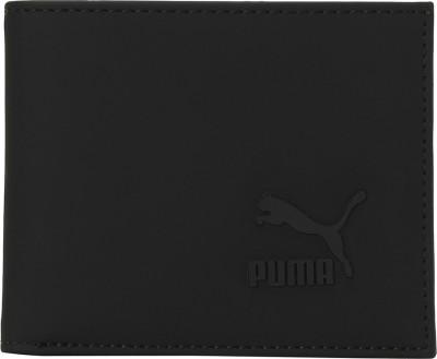 PUMA Men Casual Black Genuine Leather Wallet 6 Card Slots PUMA Wallets