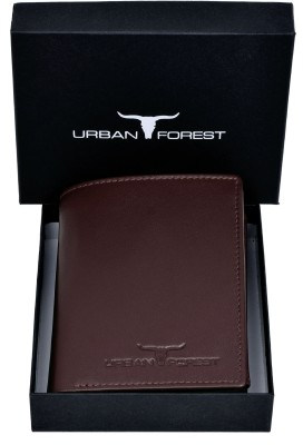Urban Forest Men Casual, Formal Maroon Genuine Leather Wallet(9 Card Slots)