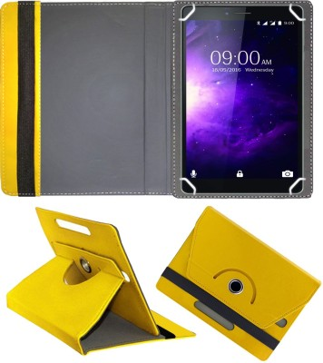 Fastway Flip Cover for Lava Magnum X1 6.98 inch with Wi-Fi+4G Tablet(Yellow, Cases with Holder)