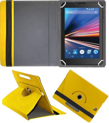 Fastway Flip Cover for Lava Ivory Plus 4G 7 inch with 4G Tablet(Yellow, Cases with Holder)