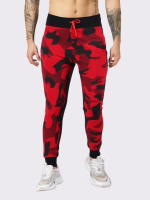 JUGULAR Camouflage Men Red, Black Track Pants