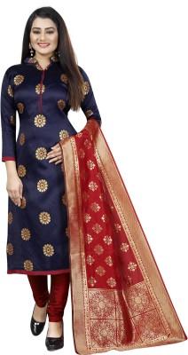 MANIKARNIKA Cotton Silk Blend Self Design Salwar Suit Material(Unstitched)