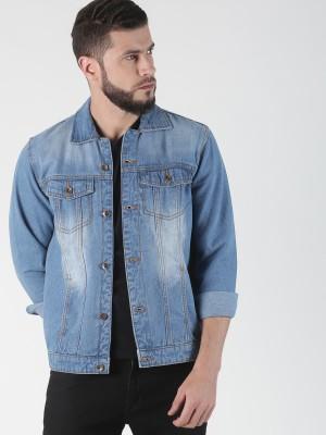 VROJASS Full Sleeve Self Design Men Denim Jacket