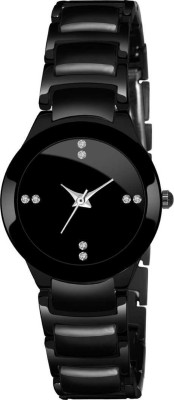Romofy BLACK WOMEN DESIGNER STUDDED WATCH NEW ARRIVAL FAST SELLING TRACK DESIGNER CHAIN BELT WATCH FOR FESTIVAL_PARTY_PROFESSIONAL WEAR WATCH FOR WOMEN HIGH QUALITY STYLISH WATCH FOR GIRLS Analog Watch  - For Women