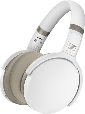 Sennheiser HD 450BT Active noise cancellation enabled Bluetooth Headset(White, Grey, On the Ear)