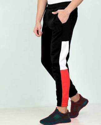 FastColors track pants lower men mens wear boys Solid Men Red, Black Track Pants