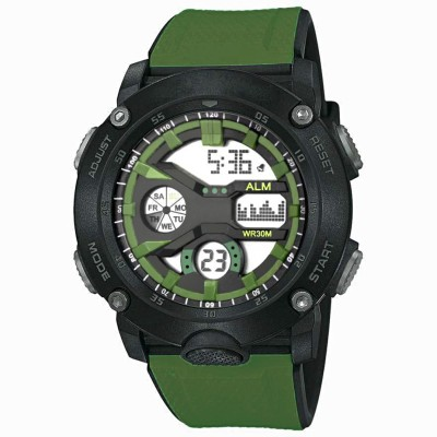 Skmei Army watch have Seven Led Digital Display Sports Silicone Army Pattern Strap watch with Alarm & Calendar Featured Waterproof Sports Watch for Men or Boy Digital Digital Watch  - For Boys & Girls