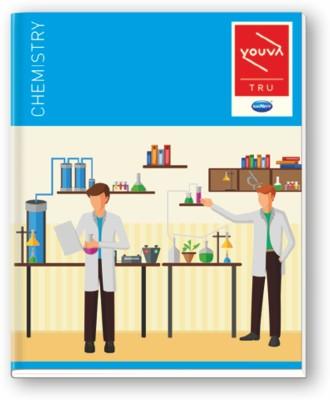 Navneet Youva Hard Bound Chemistry Practical Book 21.5x26.5 cm 1 Side Ruled & 1 Side Plain Regular Notebook 176 Pages(Blue)