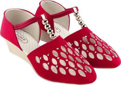 SABA Women Red Wedges