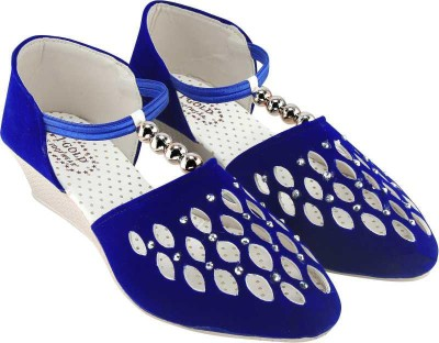 SABA Women Blue Wedges