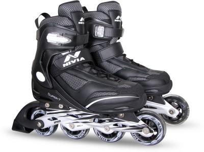 Nivia Super roller In-line Skates - Size 6.5 - 9.5(Black, Blue)