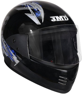 JMD ELEGANT EAGLE DECOR BLACK-BLUE full face Motorbike Helmet(Black, Blue)