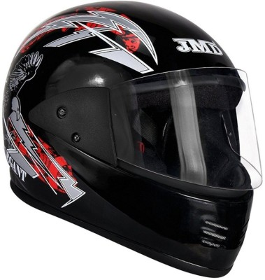 JMD ELEGANT EAGLE DECOR BLACK-RED full face Motorbike Helmet(Black, Red)