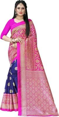 SHIVANSHTEX Printed Bollywood Cotton Silk Saree Multicolor