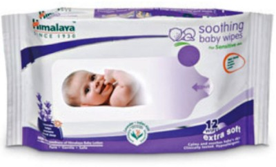 Himalaya SOOTHING BABY WIPES 12 WIPES #1