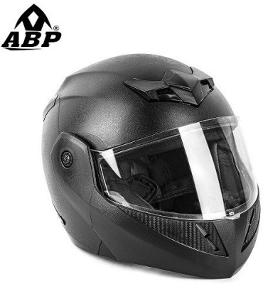 ABP CRUZE FLIP UP HELMET BLACK (MATTE) Motorbike Helmet(BLACK (MATTE))