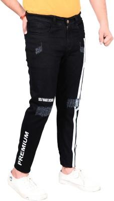 styzon Regular Men Black Jeans