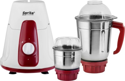 sarita mixture grinder AE 027 240 W Mixer Grinder Multicolor, 2 Jars sarita Mixer Juicer Grinder