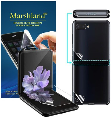 Marshland Front and Back Screen Guard for Samsung Galaxy Z Flip(Pack of 1)