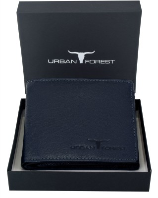 Urban ForestMen Casual, Formal Blue Genuine Leather Wallet 6 Card Slots