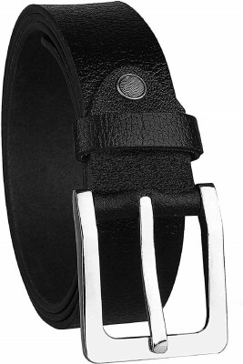 KAEZRI Men Evening, Party, Formal, Casual Black Genuine Leather Belt