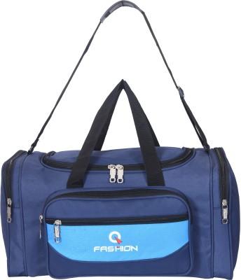 Fashion  Expandable  46 L Large Size Travel Bag Duffel Without Wheels Blue, Blue Fashion Duffel Bags