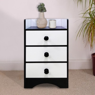Kawachi Engineered Wood Free Standing Cabinet(Finish Color - Black, white)