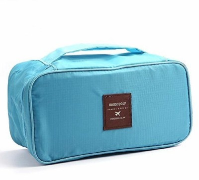 SOCHEP Multifunctional Nylon Slide Portable Bra Underwear Organizer Bag with Handle Blue SOCHEP Travel Organizers