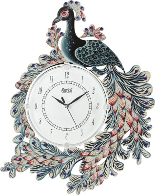 Ajanta Analog 41.91 cm X 33 cm Wall Clock  (Black, With Glass)