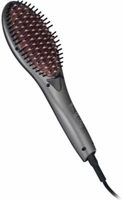 Syska Finish Hair Brush Straightener Hair Straightener Brush(Grey)