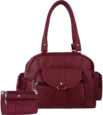 VISHESH COLLECTIONS Women Maroon Shoulder Bag(Pack of: 2)