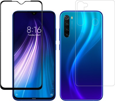 RR Gallery Front and Back Tempered Glass for Mi Redmi Note 8(Pack of 2)